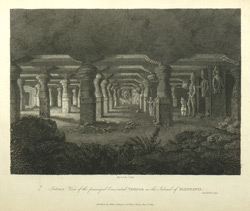 Interior View of the principal Excavated Temple on the Island of Elephanta